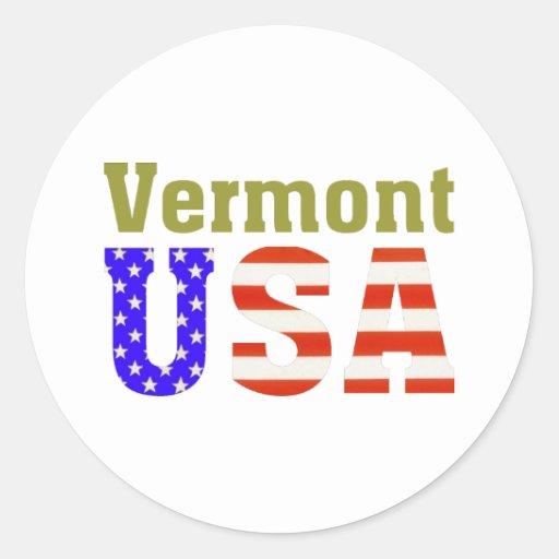 ¡Vermont los E.E.U.U.! Pegatinas Redondas
