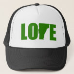 "Vermont Love Hat<br><div class=""desc"">Show everyone that you love Vermont with this trucker style hat.</div>"