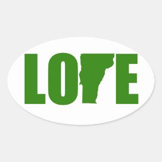 Vermont Love Oval Sticker