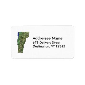 Vermont Map Address Label
