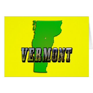 Vermont Map and Picture Text Card