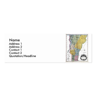 Vermont Map and State Flag Double-Sided Mini Business Cards (Pack Of 20)
