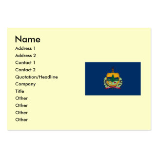 Vermont Map and State Flag Large Business Card