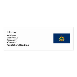 Vermont Map and State Flag Mini Business Card