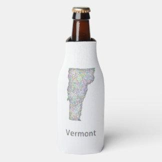 Vermont map bottle cooler