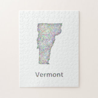 Vermont map jigsaw puzzle