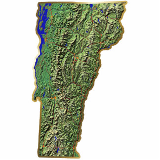 Vermont Map Keychain Cut Out