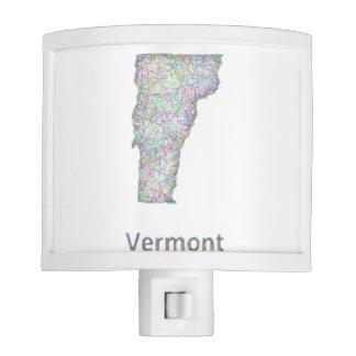 Vermont map night light