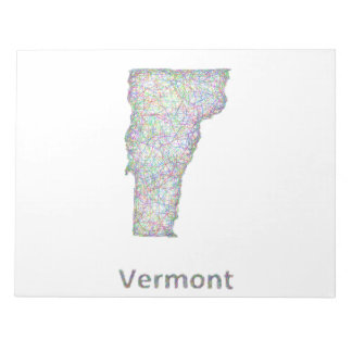 Vermont map notepad