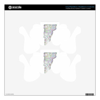 Vermont map PS3 controller skins
