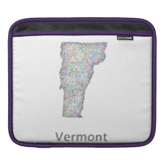 Vermont map sleeve for iPads