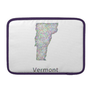 Vermont map sleeve for MacBook air
