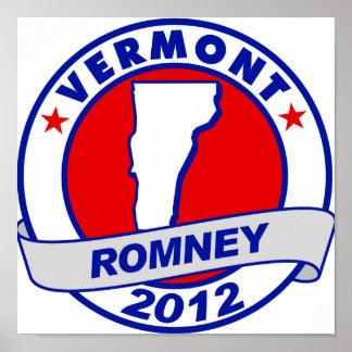Vermont Mitt Romney Poster