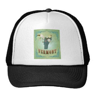 Vermont Modern Vintage State Map – Green Trucker Hat