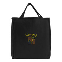 Vermont Moose Embroidered Bag