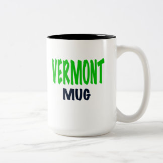 VERMONT MUG, funny Vermont gifts. Two-Tone Coffee Mug