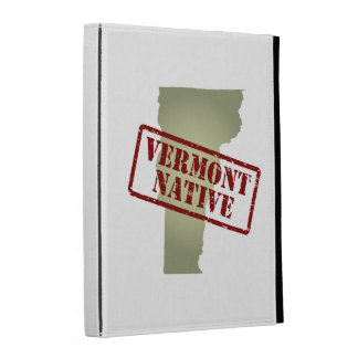 Vermont Native Stamped on Map iPad Folio Cases