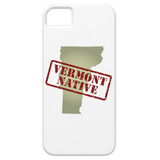 Vermont Native Stamped on Map iPhone 5 Cases