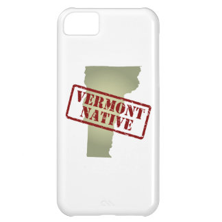Vermont Native Stamped on Map iPhone 5C Case