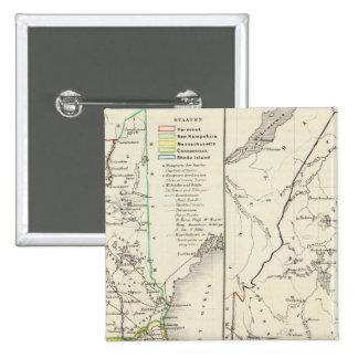 Vermont, New Hampshire, Massachusetts Pinback Button