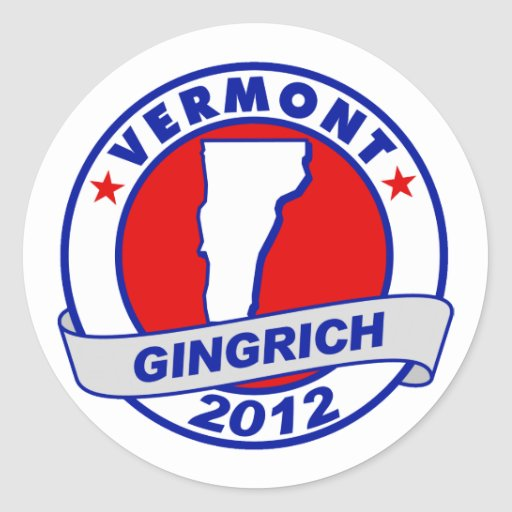 Vermont Newt Gingrich Pegatina