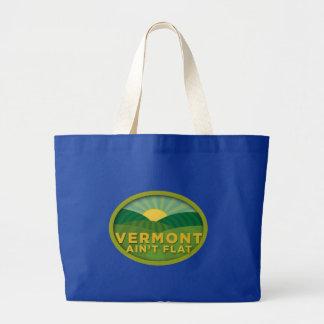 Vermont no es plano bolsa lienzo