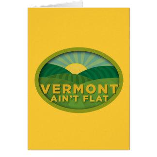Vermont no es plano felicitación