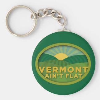 Vermont no es plano llavero redondo tipo pin