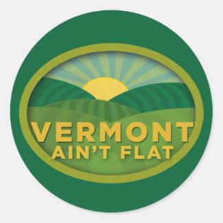 Vermont no es plano pegatina redonda