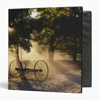 Vermont, Northeast Kingdom, Sunlight falling 3 Ring Binder