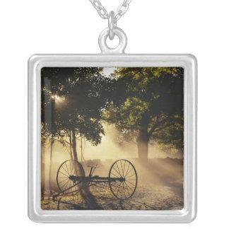 Vermont, Northeast Kingdom, Sunlight falling Square Pendant Necklace