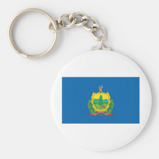 Vermont  Official State Flag Basic Round Button Keychain