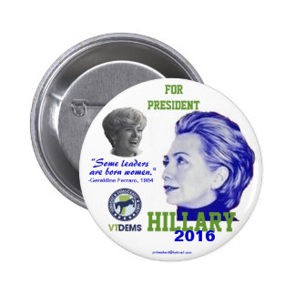 Vermont oficial Hillary 2016 Pins