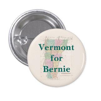 Vermont para Bernie 2016 Pin Redondo 2,5 Cm