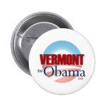 VERMONT para Obama Pin