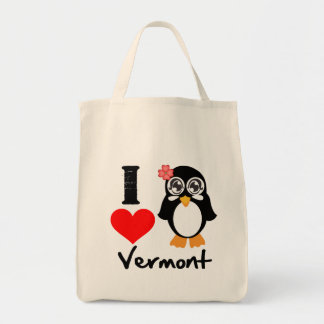 Vermont Penguin - I Love Vermont Tote Bags