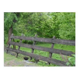 Vermont Picket Fence Postcard