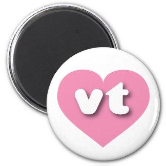 Vermont pink heart - mini love 2 inch round magnet