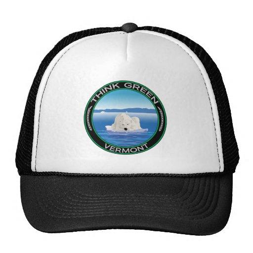 Vermont polar verde gorros