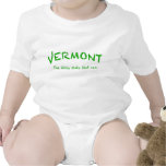 Vermont puede enredadera infantil, blanca traje de bebé