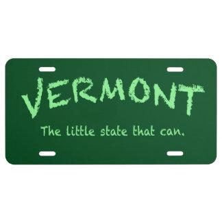 Vermont puede placa placa de matrícula