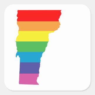 vermont rainbow square sticker