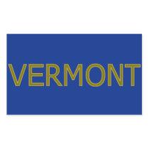 Vermont Rectangle Stickers