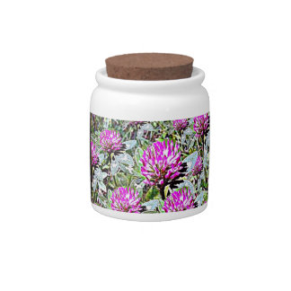 Vermont Red Clover Candy Jars