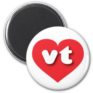 Vermont red heart- mini love 2 inch round magnet