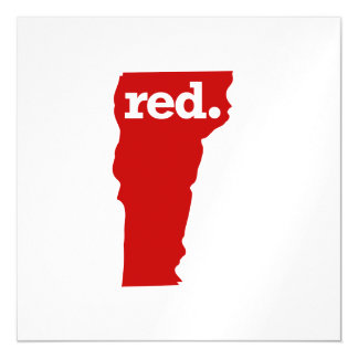 VERMONT RED STATE MAGNETIC CARD
