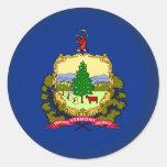 Vermont redondo pegatina redonda