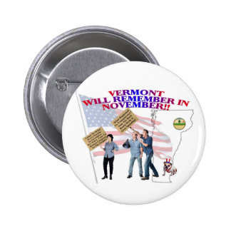 Vermont - Return Congress to the People! Pinback Button