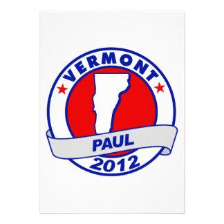 Vermont Ron Paul Personalized Announcement