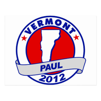 Vermont Ron Paul Tarjeta Postal